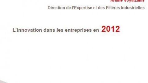 Synthèse sur l'innovation dans les entreprises agroalimentaires en 2012