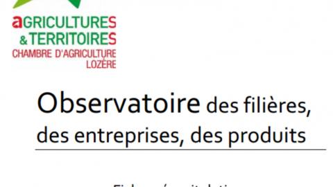 La Chambre d'Agriculture publie un observatoire des filières des entreprises et des produits