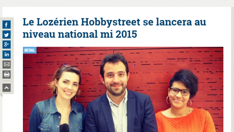 Le Lozérien Hobbystreet se lancera au niveau national mi 2015