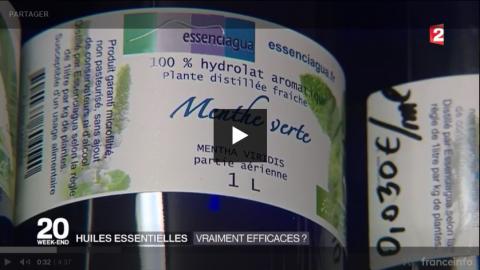 France 2 illustre l'efficacité des Huiles essentielles avec ESSENCIAGUA