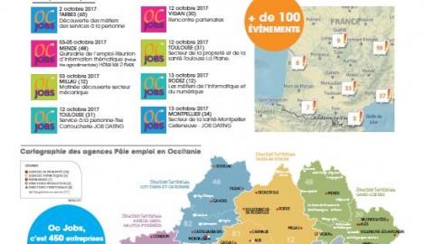 """Pôle Emploi organise son salon de recrutement régional en ligne """"OC JOBS""""."""