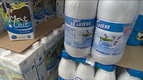 """""""Lait de Lozère : une des meilleures ventes du rayon"""""""